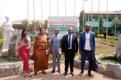 When two mastodons of Engineering and Management visit AICS Cameroon !
